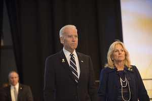 Vice-President Joe Biden and his wife, Jill.