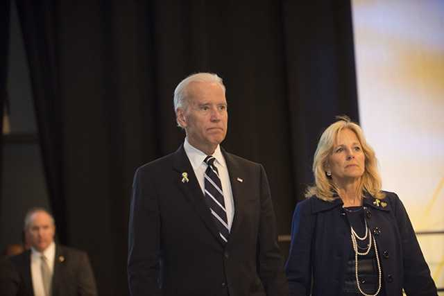 Vice-President Joe Biden and his wife, Jill.