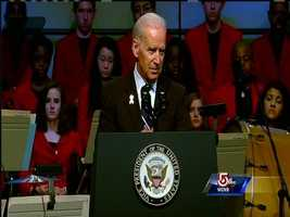 """""""We will own the finish line,"""" Biden says."""