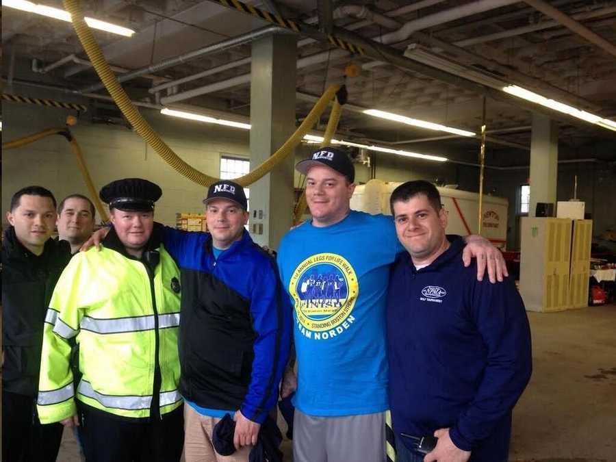 Newton police officers meet with the Norden brothers on their journey to Boston.