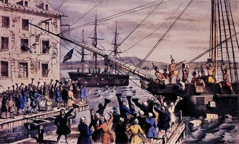 The Boston Tea Party reenactment takes place in Boston Harbor annually on December 16th.