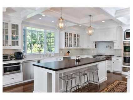 Fabulous Kitchen with coffered ceiling.