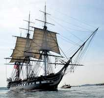 The U.S.S. Constitution, known as'Old Ironsides', is the oldest fully commissioned vessel in the U.S. Navy and permanently berthed at the Charlestown Navy Yard.