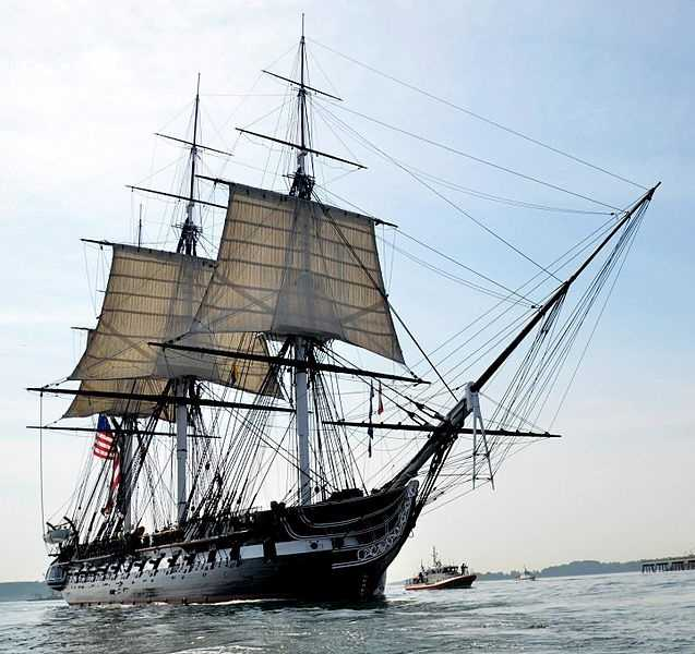 The U.S.S. Constitution, known as 'Old Ironsides', is the oldest fully commissioned vessel in the U.S. Navy and permanently berthed at the Charlestown Navy Yard.