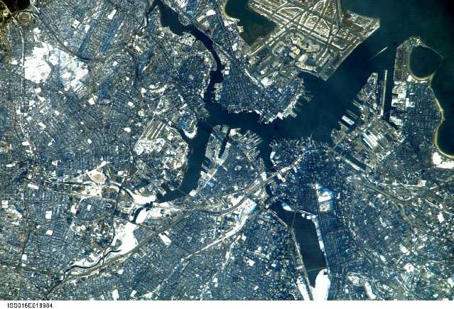 Boston has an area of 89.6 square miles.