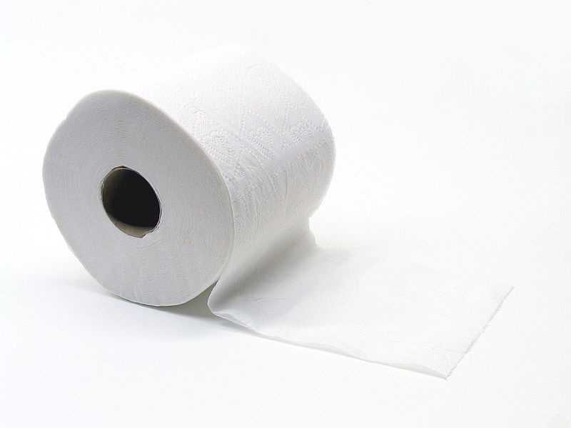 The average American uses 46 squares of toilet paper per day, according to Consumer Reports.