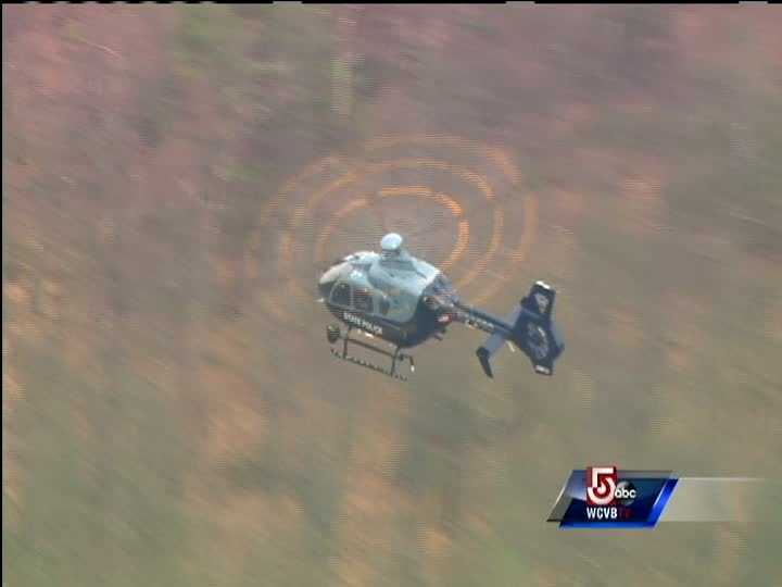 A State Police helicopter was also in the area conducting a search.