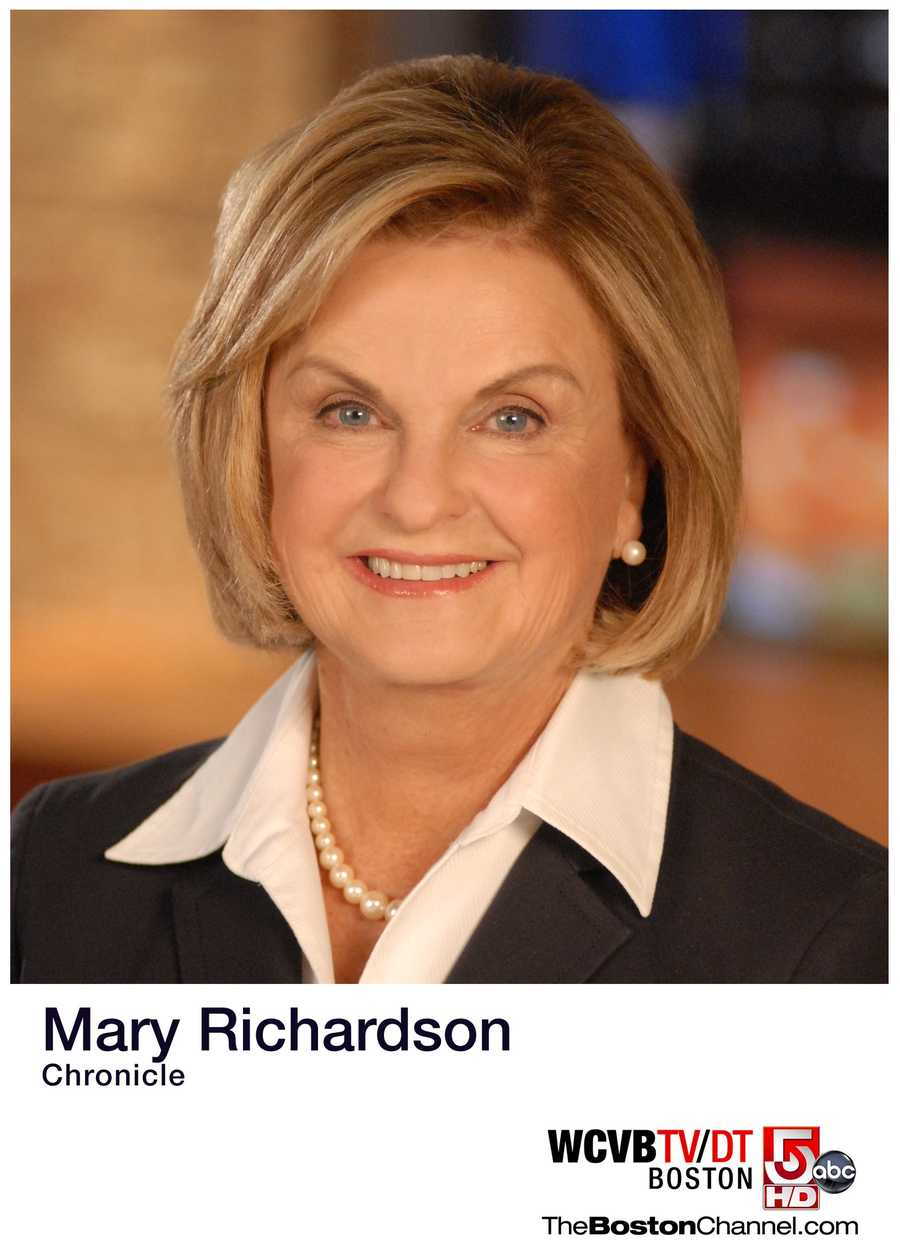 Mary Richardson was the long-time anchor of WCVB-TV's Chronicle