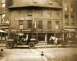The Union Oyster House is the oldest restaurant in Boston and the oldest restaurant in continuous service in the U.S. — the doors have always been open to diners since 1826.