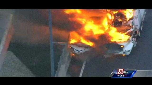 Emergency crews are responding to a truck fire on the Leonard P. Zakim Bunker Hill Memorial Bridge.