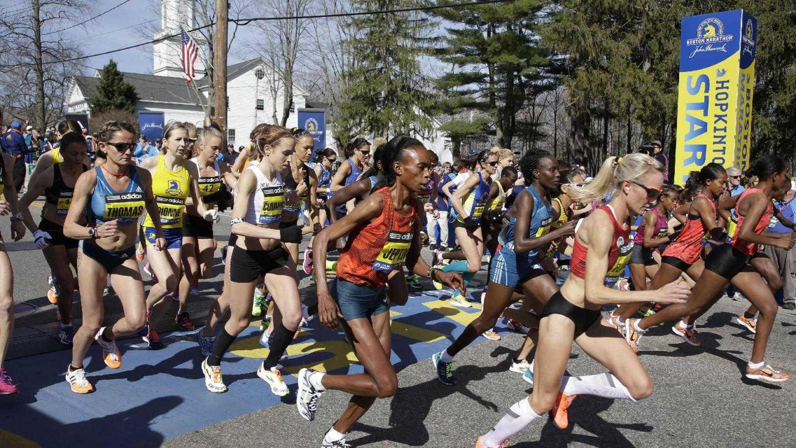 Elite women runners Boston Marathon