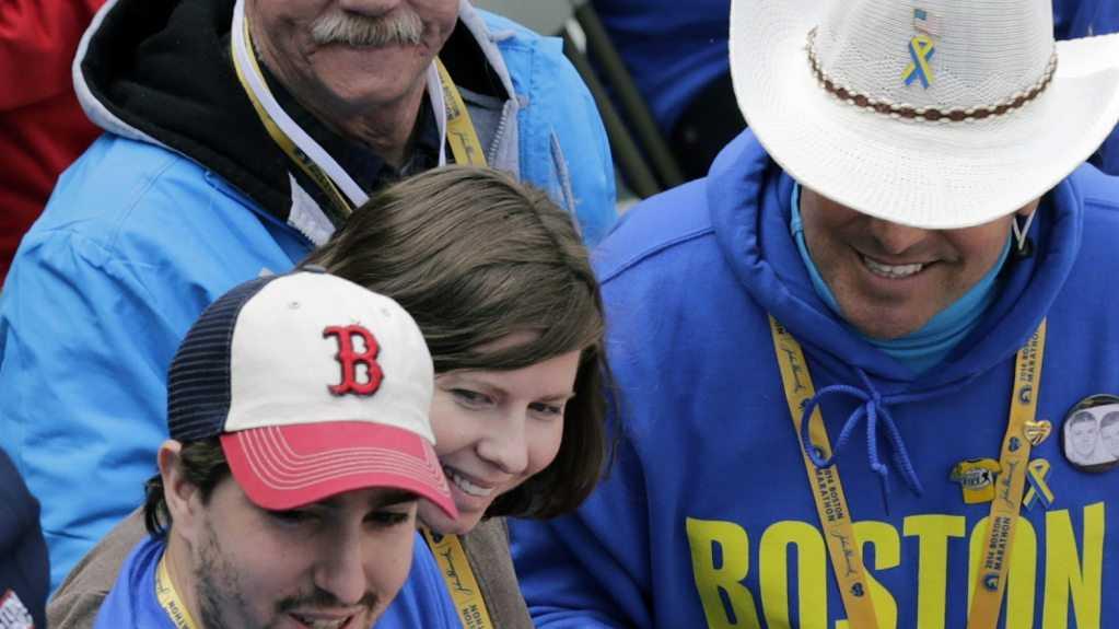 Jeff Bauman Boston Marathon finish line