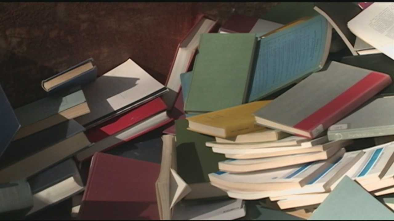 Books found in UNH dumpster