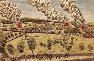 1775: Battles of Lexington and Concord mark start of the American Revolution.