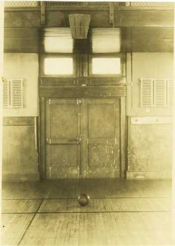 1891: James Naismith invented the game of basketball game in Springfield, MA. The original game had 13 rules and was played with a soccer ball and peach baskets hung 10 feet in the air.