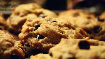 1930s: Ruth Wakefield invented the first chocolate chip cookie at the Toll House Inn in Whitman, Mass. by adding cut up pieces of chocolate to her butter drop cookies.