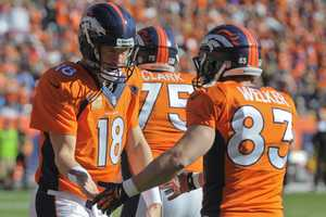 Former New England Patriots WR Wes Welker and quarterback Peyton Manning return to Foxborough for the first time since their embarrassing Super Bowl loss.