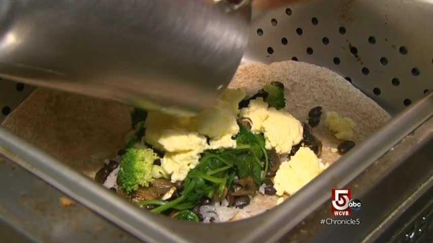 Chef Sullivan believes it's the espresso machine that makes the eggs so tasty in his popular breakfast fiesta wrap.