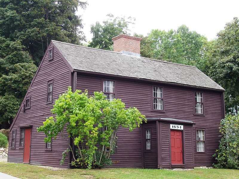 The Macy-Colby House was built around 1649 and is located on Main Street in Amesbury.