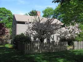 John Partridge House is at 315 Exchange Street in Millis. The house was built in 1659 and added to the National Historic Register in 1974.
