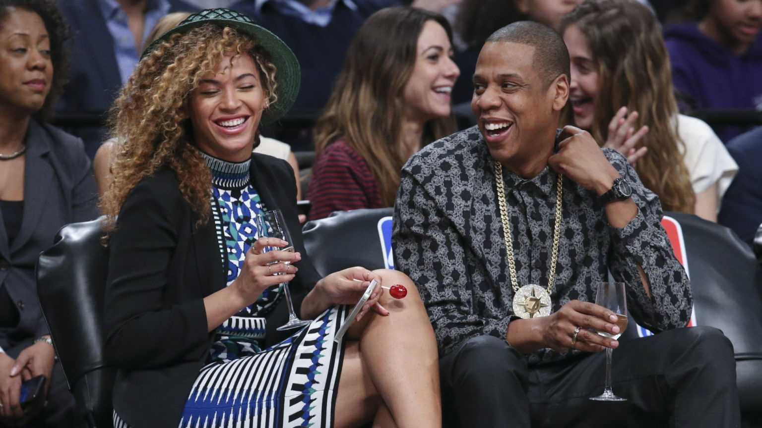 Recording artists Beyonce and Jay-Z