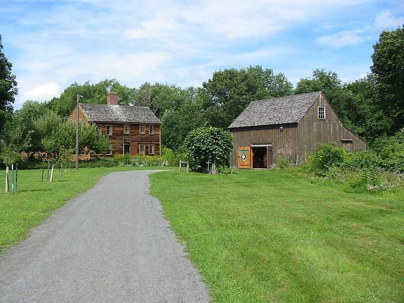 The Job Lane House in Bedford was built circa 1713 by Job Lane, one of Bedford's earliest settlers,