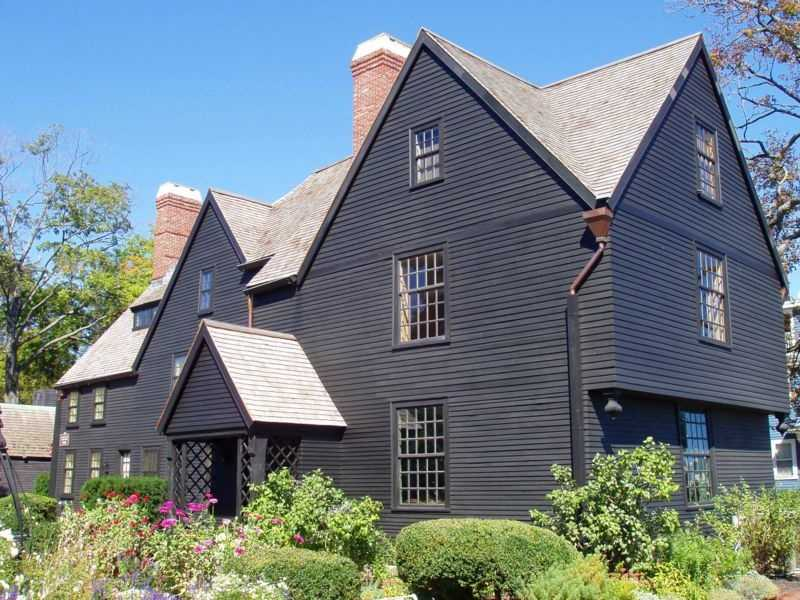 """The House of the Seven Gables was built in 1668 in Salem. It was made famous by Nathaniel Hawthorne's 1851 novel """"The House of the Seven Gables."""" The house and its surrounding area are a National Historic Landmark District."""