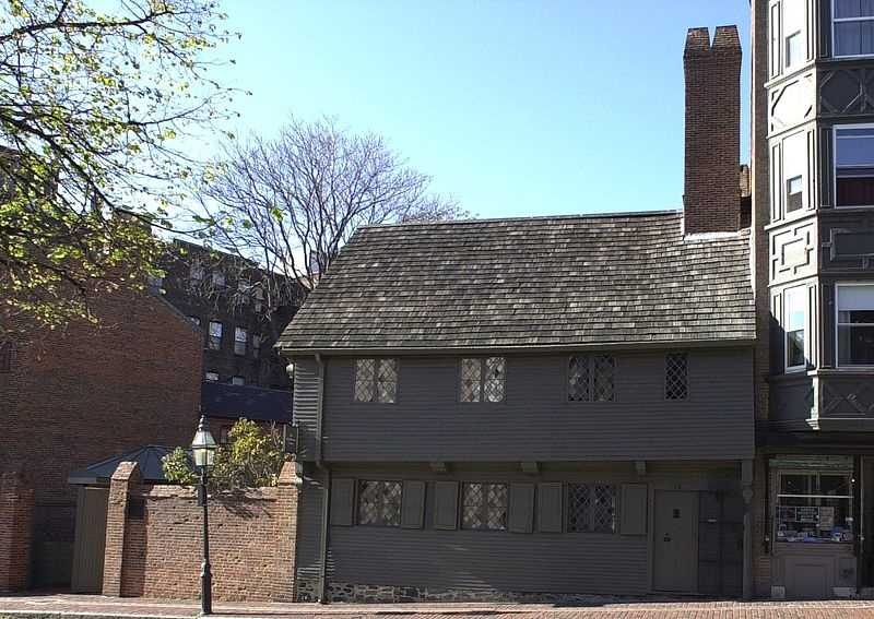The Paul Revere House, built in 1680, was Paul Revere's home during the American Revolution.