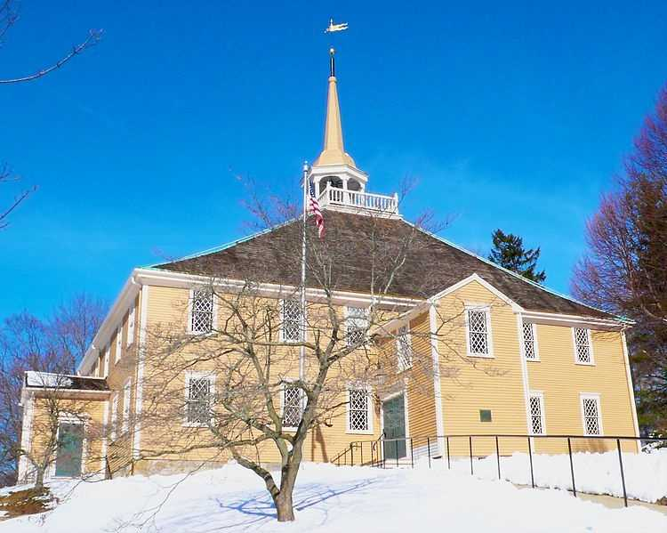 The Old Ship Church in Hingham was built in 1681. It is the oldest church in continuous use in the United States.