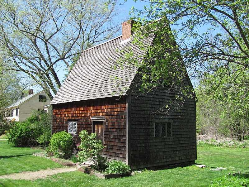 The Peak House in Medfield, Massachusetts was originally built in 1651. However, it was burned during the King Philip's War in 1676 and the current house was rebuilt circa 1677-80.