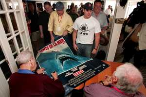 Because filming took longer than planned, Spielberg himself was not present for the shooting of the final scene in which the shark explodes, as he believed that the crew were planning to throw him in the water when the scene was done.