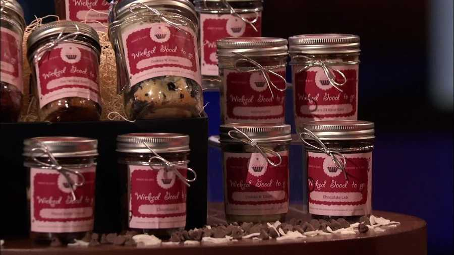On Shark Tank, they told the panel of would-be investors their cupcakes are baked fresh everyday, and shipped in jars.