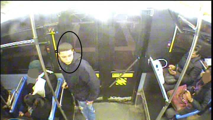 MBTA police are asking for the public's help in identifying a man they say stole a smartphone from a fellow passenger on a bus.
