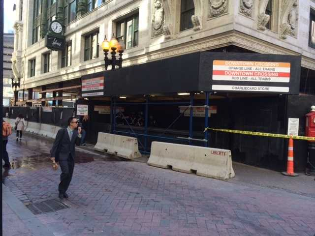 The Downtown Crossing MBTA station in Boston is shut down because of a bomb threat, police said.