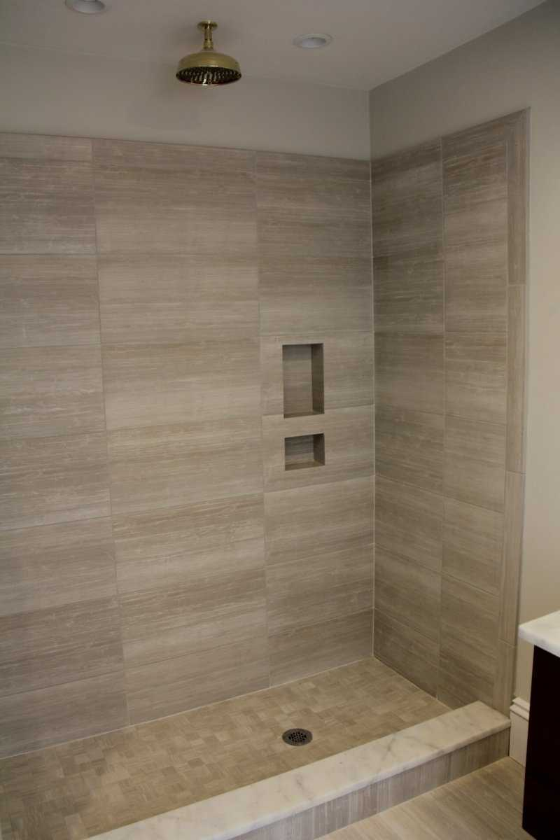 A closer look at the shower inside the second bathroom.