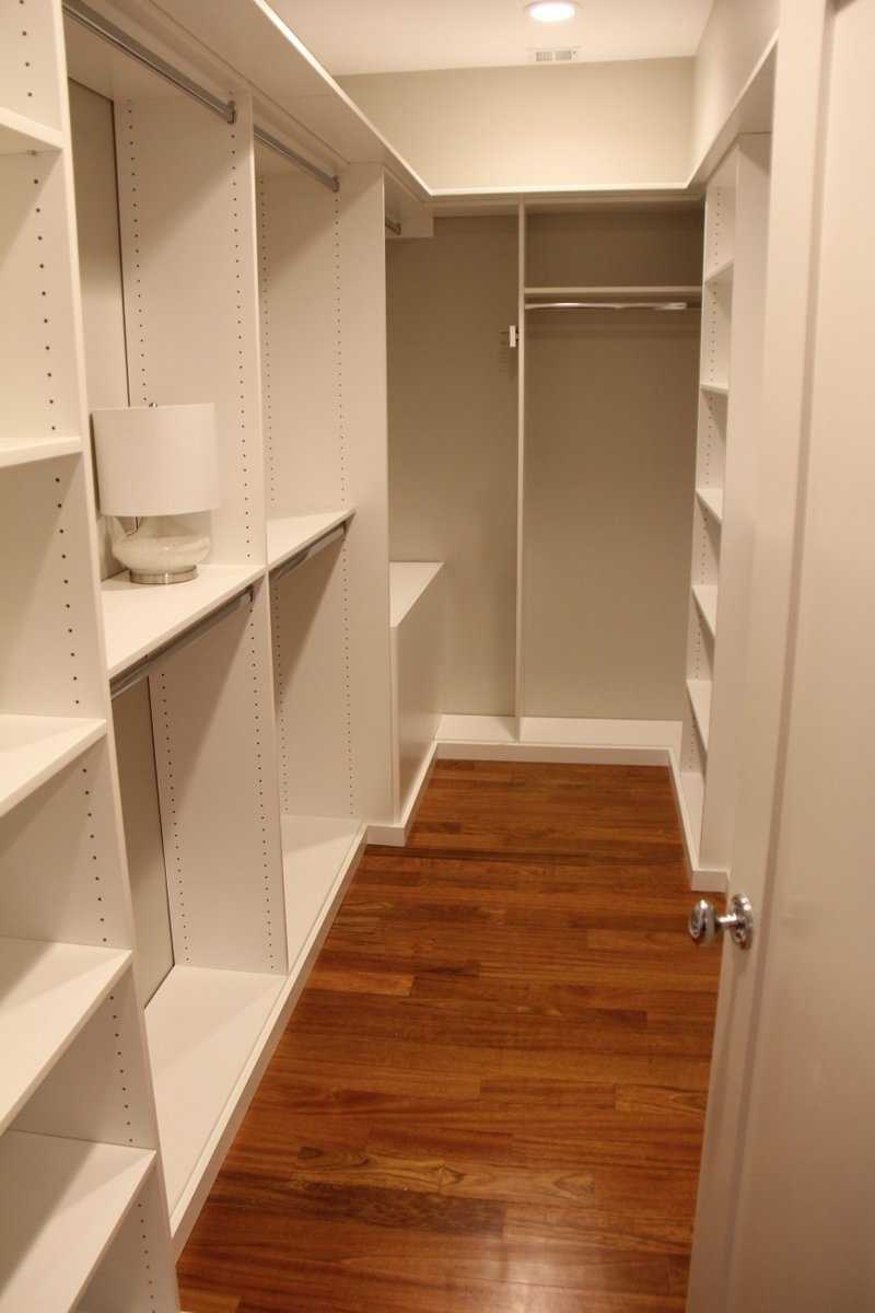 The penthouse apartment features a large walk-in closet.