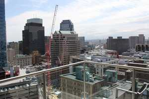 The view toward Downtown Crossing from the balcony area.