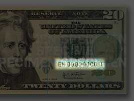 Serial Numbers - A unique combination of eleven numbers and letters appear twice on the front of the note.