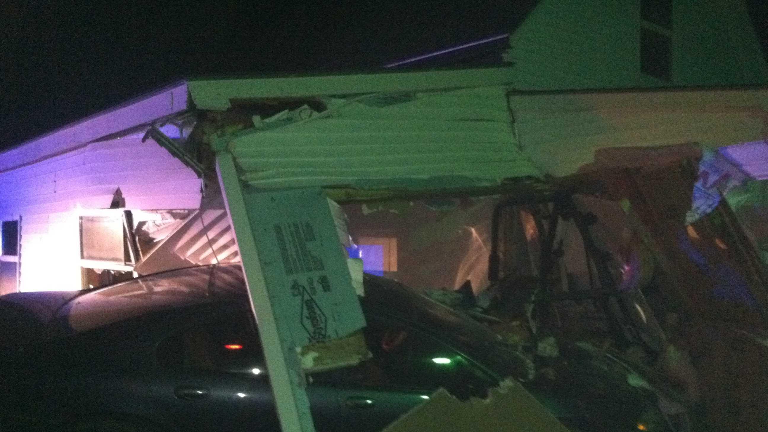 Woodland house crash