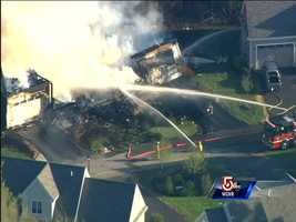 Officials say the officer died before the fire began and did not die as a result of the fire.
