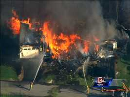 The information is based on 911 dispatch records from when the incident first began to when fire officials were allowed to move in.