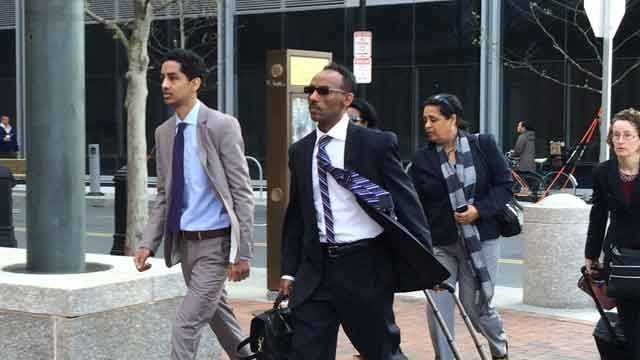 Robel Phillipos arrives at court