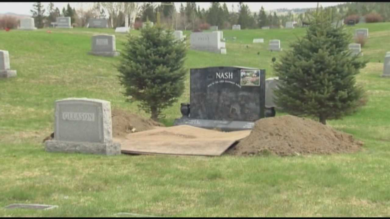 Grave dug up in Colebrook cemetery