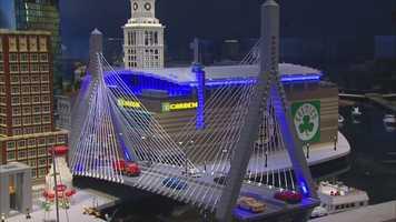 The TD Garden and Zakim Bridge