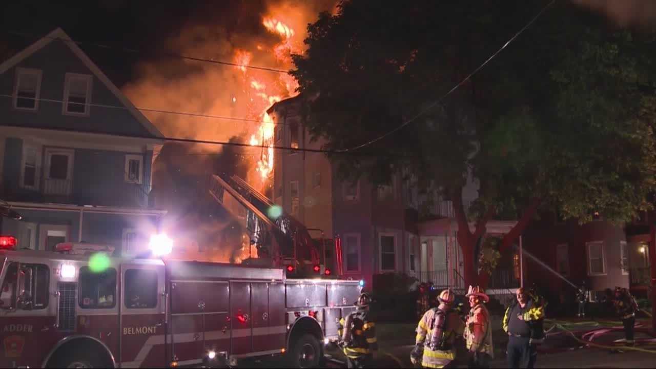Flames rip through home