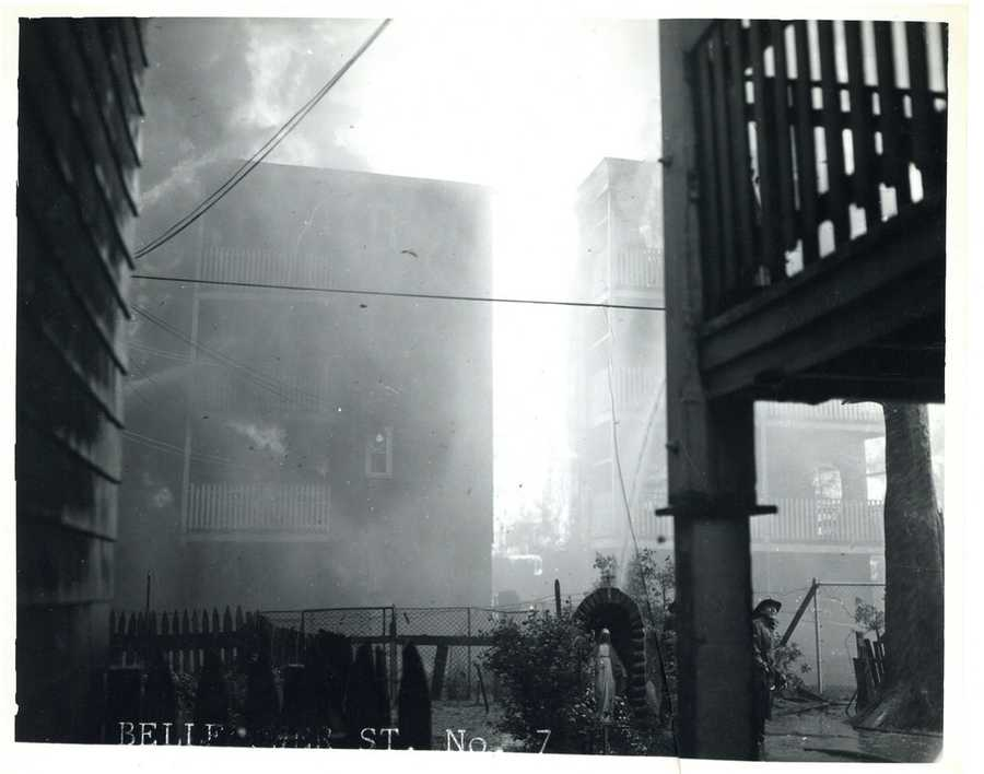It wiped out an entire neighborhood, igniting more than 250 rooftop fires and injuring 31 firefighters, the Boston Globe reported.
