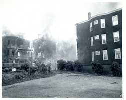 On May 22, 1964, the Bellflower Street Conflagration ultimately destroyed or damaged 35 multifamily dwellings in Dorchester.