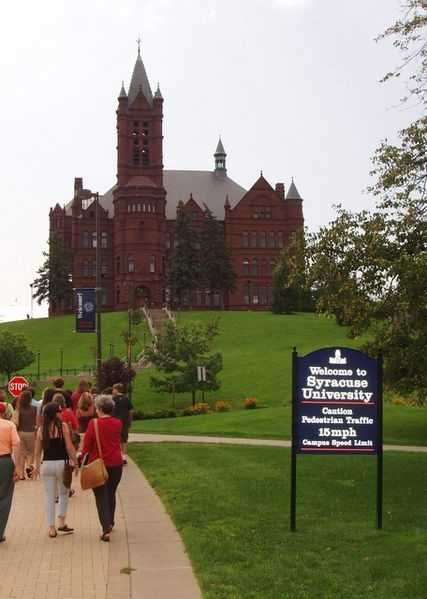 Syracuse University (Syracuse, N.Y.) Rank: 62Acceptance rate: 51.3%