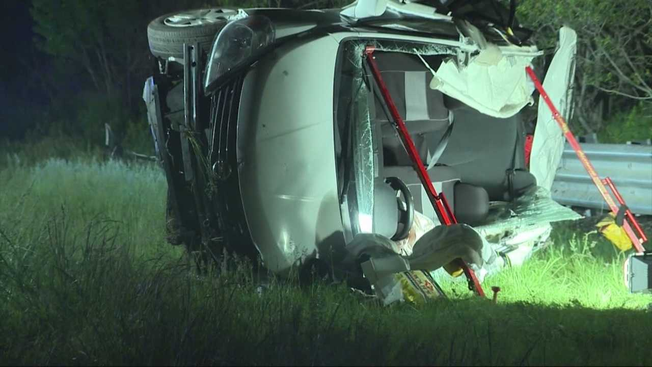 1 person is dead and 4 others injured in a crash on I-95 in Norwood.