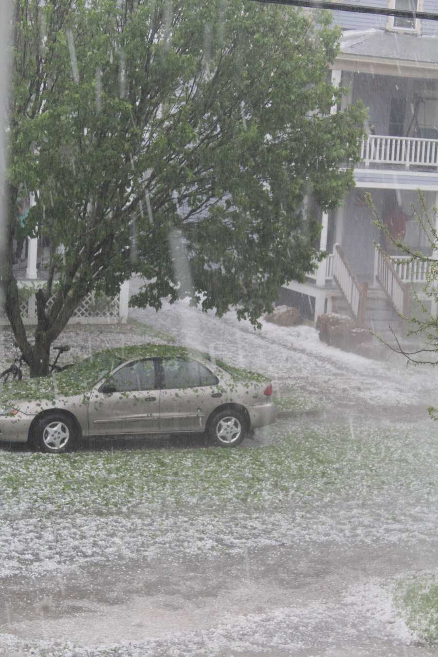 Photos of the hail storm in Rutland, VT on May 27, 2014